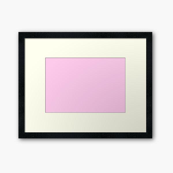 Light pink  Framed Art Print