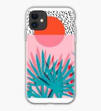 Whoa - Palme Sonnenaufgang Südwest Kalifornien Palm Beach Sun Stadt Los Angeles Hawaii Palm Springs Resort Dekor iPhone-Hülle & Cover
