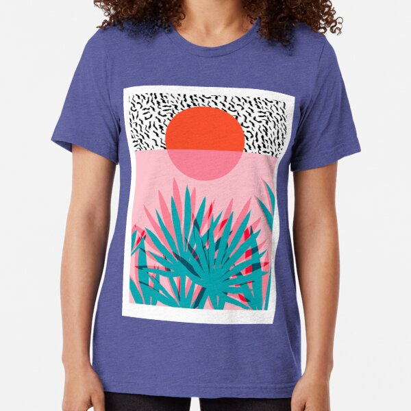 California Sunset Palm Trees Birds Distressed CA State Beach Love Men/'s T-Shirt