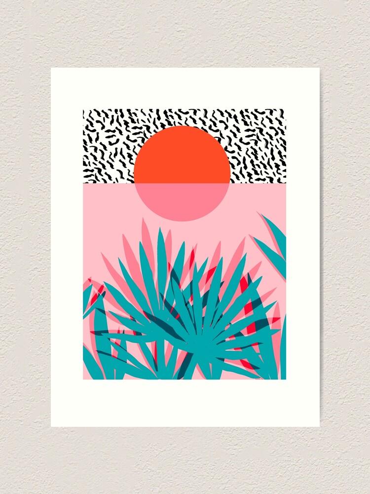 Alternate view of Whoa - palm sunrise southwest california palm beach sun city los angeles hawaii palm springs resort decor Art Print