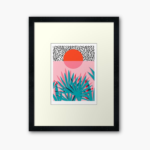 Whoa - palm sunrise southwest california palm beach sun city los angeles hawaii palm springs resort decor Framed Art Print