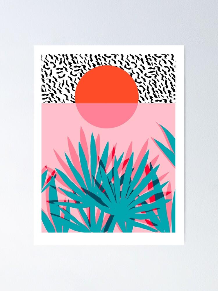 Alternate view of Whoa - palm sunrise southwest california palm beach sun city los angeles hawaii palm springs resort decor Poster