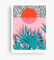 Whoa - palm sunrise southwest california palm beach sun city los angeles hawaii palm springs resort decor Canvas Print
