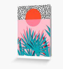 Whoa - palm sunrise southwest california palm beach sun city los angeles hawaii palm springs resort decor Greeting Card