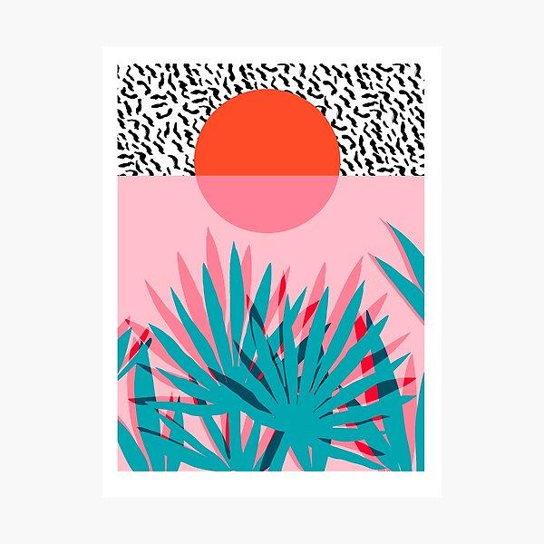 Whoa - palm sunrise southwest california palm beach sun city los angeles hawaii palm springs resort decor Photographic Print