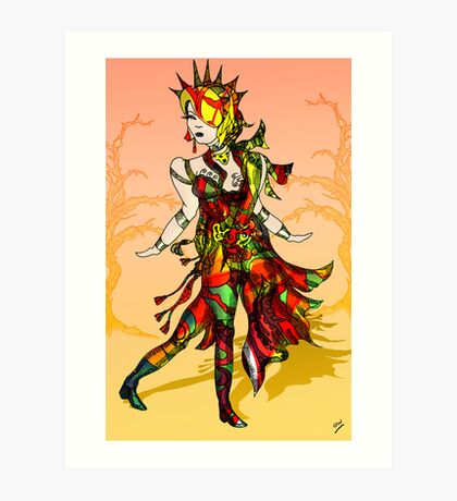Colourful Figure drawing Art Print