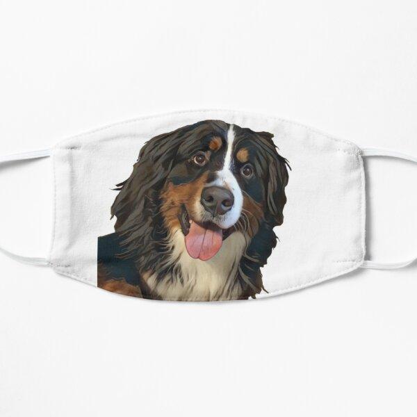 Happy Bernese Mountain Dog Art Flat Mask