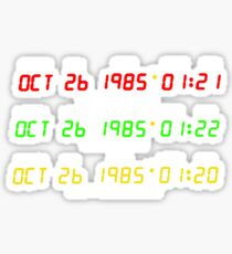 Time Circuits Sticker