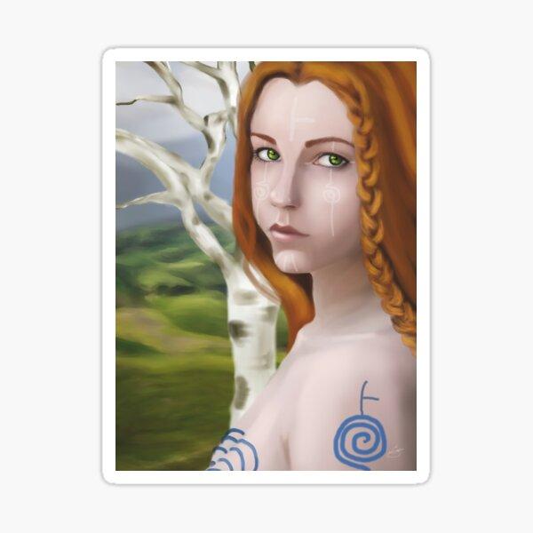 Göttin Cerridwen - Birke Sticker
