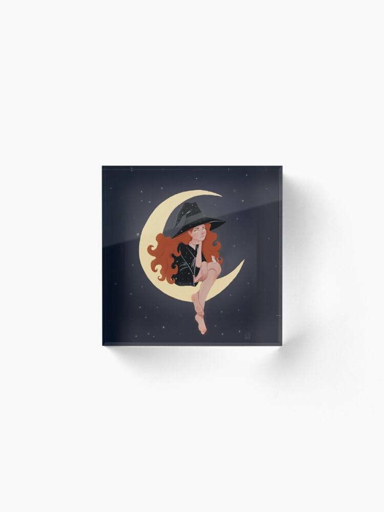 Alternate view of Moon Acrylic Block