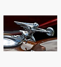 Packard Twin-Six Coupe Roadster hood ornament (1932) Photographic Print