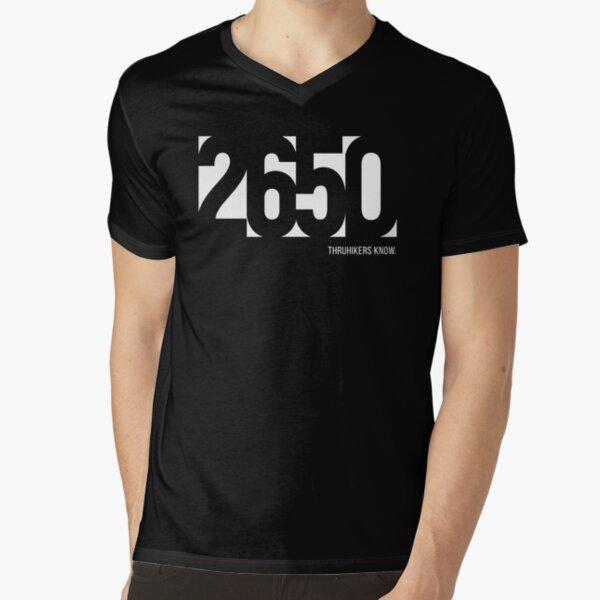2650 miles - the PCT (Pacific Crest Trail) V-Neck T-Shirt