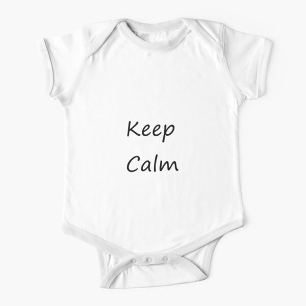 Keep Calm Short Sleeve Baby One-Piece
