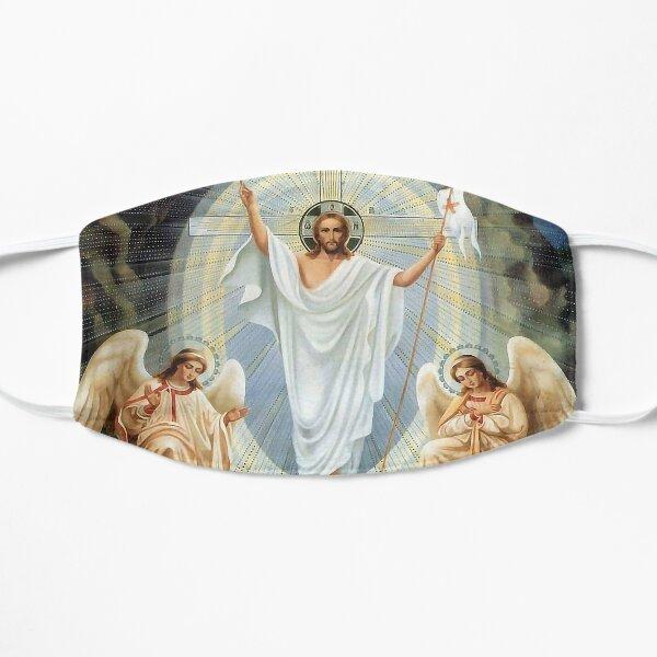 Christ ressuscité et anges Masque sans plis