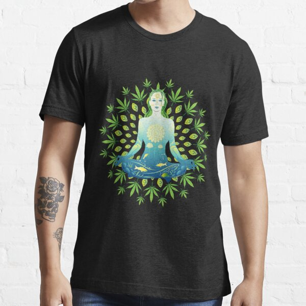 Young woman practicing meditation 3 Essential T-Shirt