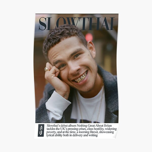 Slowthai Nothing Great About Britain Poster Poster Poster