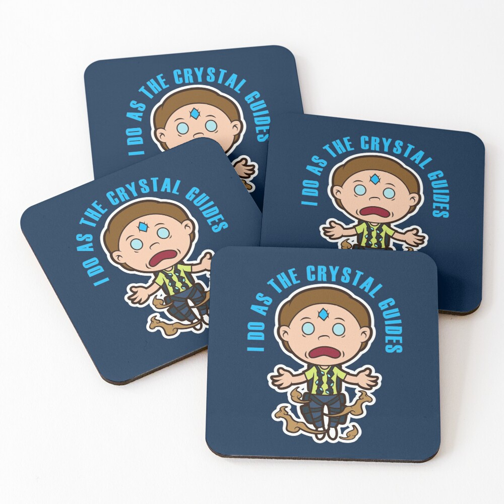 Death Crystal Morty Coasters (Set of 4)
