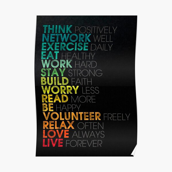 Inspirational To Do List  Poster