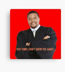 Judge My Game Canvas Print