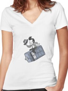 Dr. Wholove Women's Fitted V-Neck T-Shirt