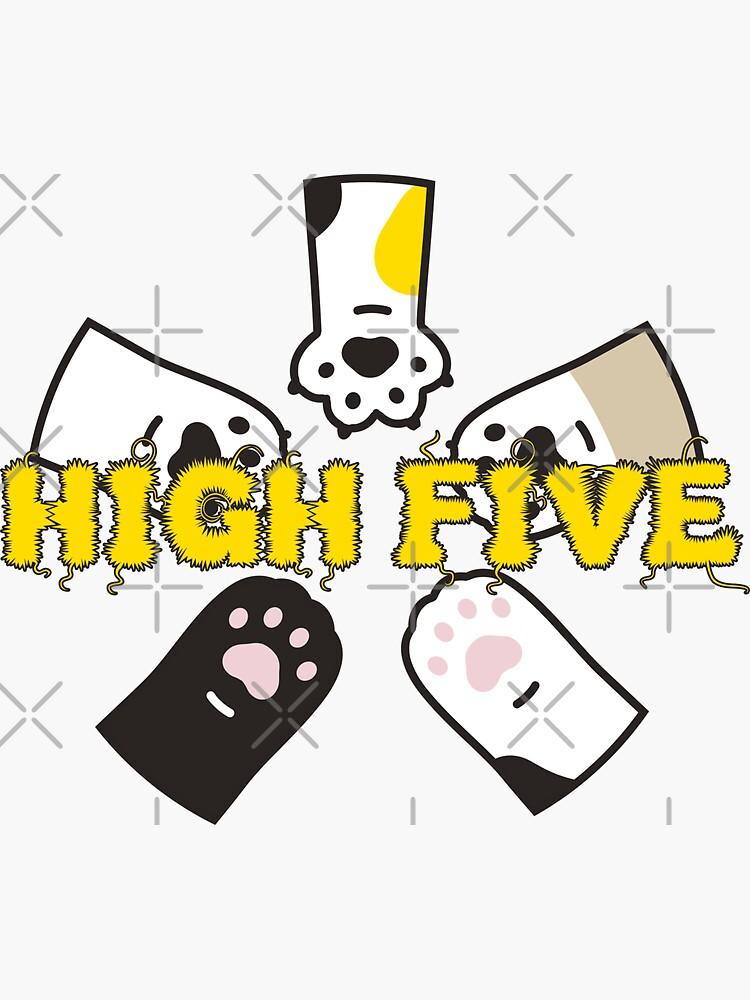 High Five Pfoten - brainbubbles von brainbubbles
