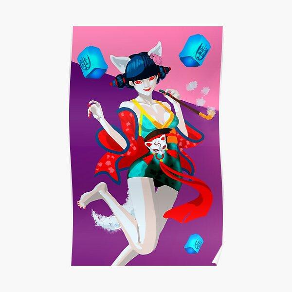 Anime Fox Girl Posters Redbubble