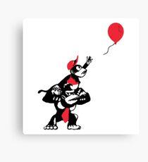 Ballon Affen Leinwanddruck