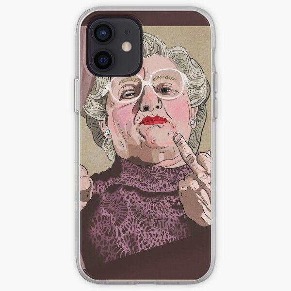Mrs Doubtfire middle finger - Illustration - Robin Williams - Film  iPhone Soft Case