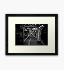 Walk this Way - Otaru , Hokkaido , Japan Framed Print