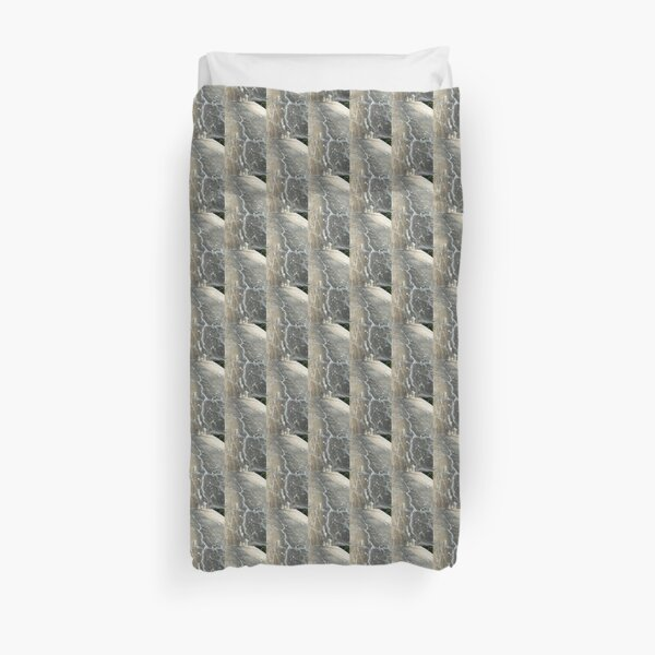 Cracked Cement, Abstract Photography by Courtney Hatcher Duvet Cover