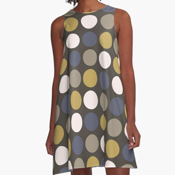 Dark Mod Circles A-Line Dress