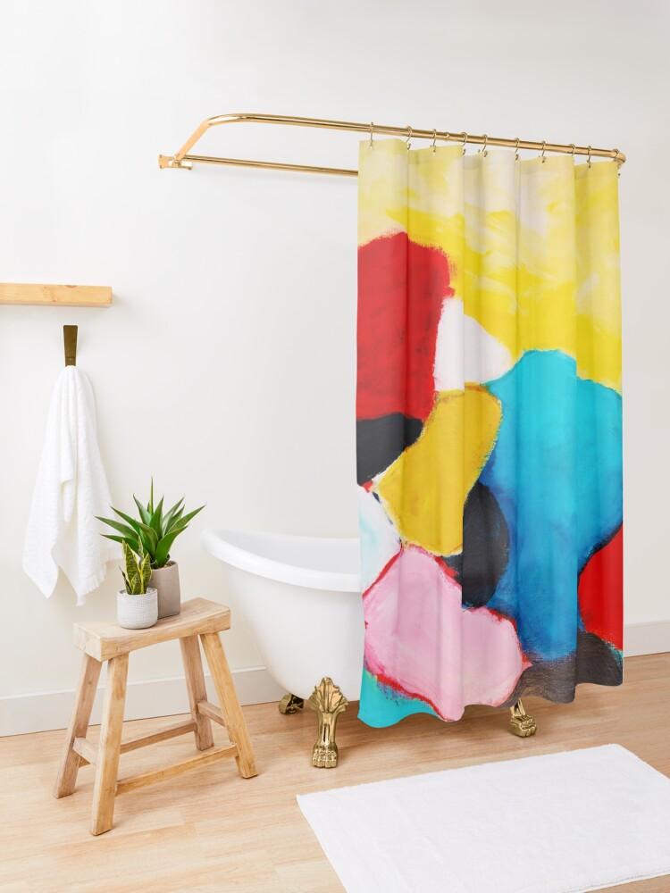 Alternate view of Rocks Shower Curtain