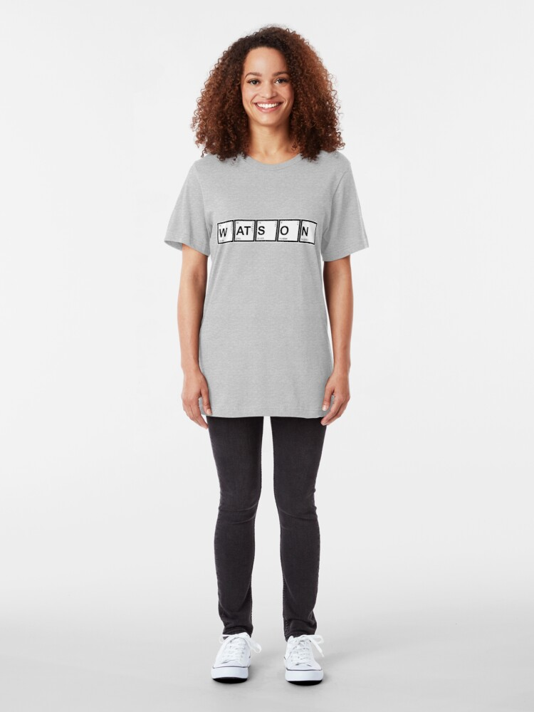 Alternate view of Elementary (My Dear) Watson Slim Fit T-Shirt