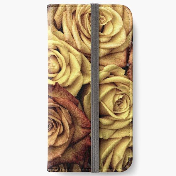 Golden Brown Roses iPhone Wallet
