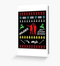 Walking Dead - Ugly Christmas sweater Greeting Card