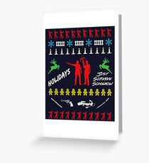 Walking Dead - Ugly Christmas sweater knitted Greeting Card