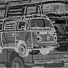 Silver Black Bay Campervan Montage by Ra12