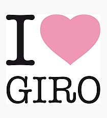 I ♥ GIRO Photographic Print