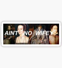 ain't no wifey ft queens of history - single design Sticker