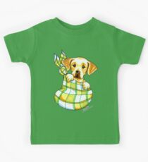Yellow Lab Puppy Special Delivery Kids Clothes
