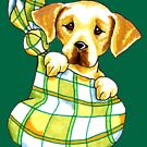 Yellow Lab Puppy Special Delivery by offleashart