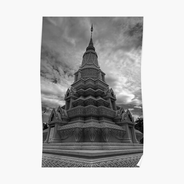 Stupa of HM King Suramarit and HM Queen Kossomak, Cambodia Poster
