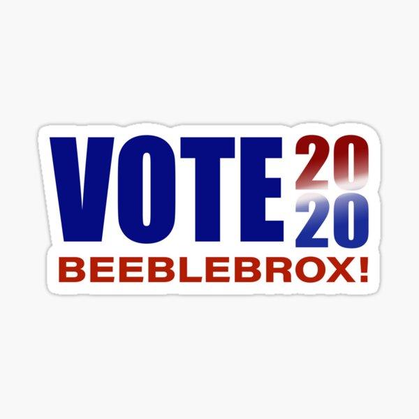 VOTE Beeblebrox 2020! Sticker