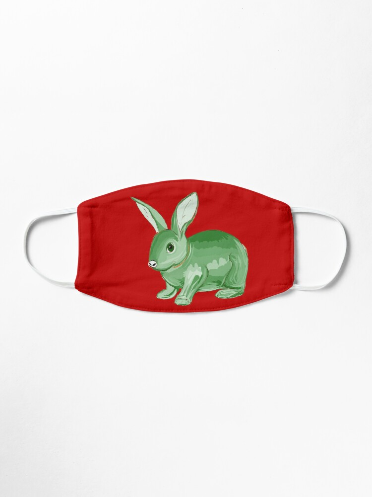 Alternate view of Green Bunny Mask