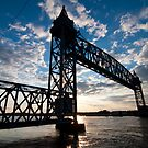 Cape Cod RR Bridge Silhouette by thatche2