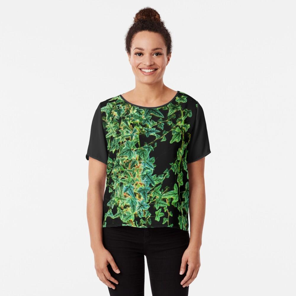 Ivy on black Chiffon Top