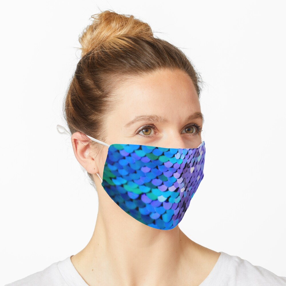 Memaid scales in sequin Mask