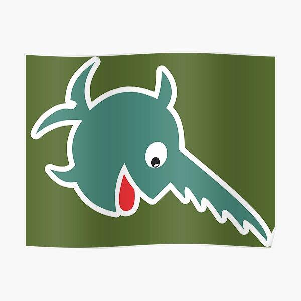 Der lachende Sägefisch - 9. Flottille - Grün - Sauberer Stil Poster