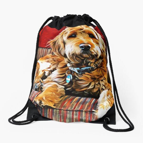 Puppy Dog Chair Warmer Drawstring Bag