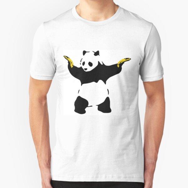 Bad Panda Stencil Slim Fit T-Shirt